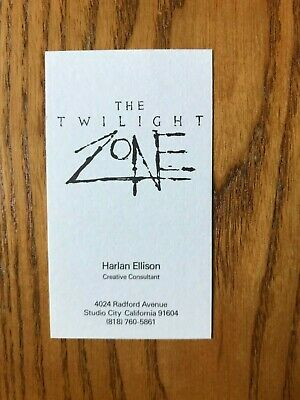Twilight Zone  Harlan Ellison Business Card