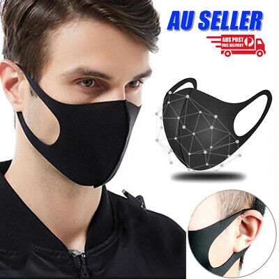 1 / 3Pcs Anti Dust Respirator Mask Mouth Face Washable Unisex Cycling