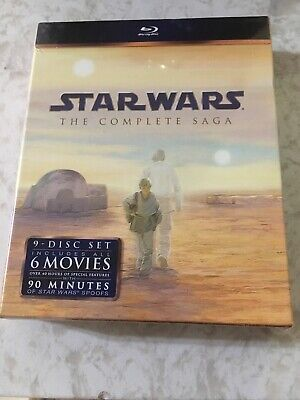 STAR WARS The Complete Saga (USA Version) Blu-ray, 9-Disc Set - Sealed NEW FA