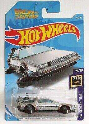Hot Wheels 19 Back To The Future Time Machine Hover Mode Delorean Long Card