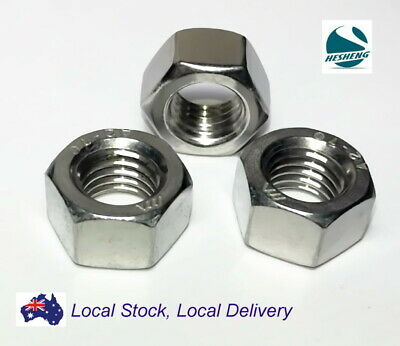 M3 M4 M5 M6 M8 Hex Full Metric Coarse Nuts Nut A2 304 Stainless Steel