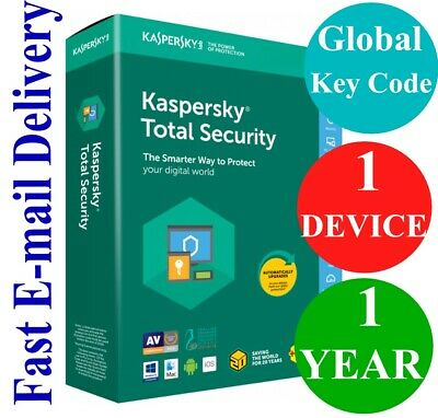 Kaspersky Total Security 1 Device / 1 Year (Unique Global Key Code) 2020