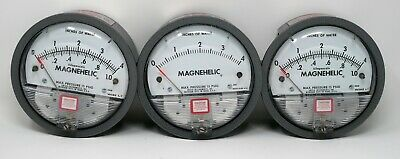 DWYER INSTRUMENTS 2004D, 2004 (0-4 inches of water) MAGNEHELIC GAUGE (LOT OF 3)