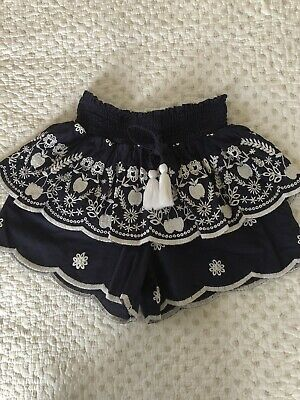 Seed Shorts Girls Size 8 Broderie