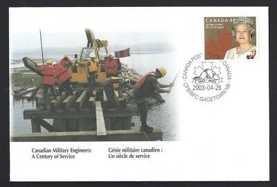 Canada  # S53    Special Event Cover    ARMY ENGINEERS     New 2003 Unaddressed