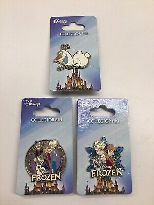 Disney Pin Jerry Leigh Frozen Set Anna Elsa Sven Olaf 3 Pins Frozen Pin New Set