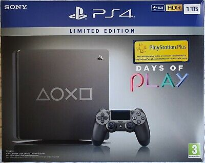 Console Playstation 4 PS4 Slim 1 TB Black Days Of Play Limited Edition + GIOCO