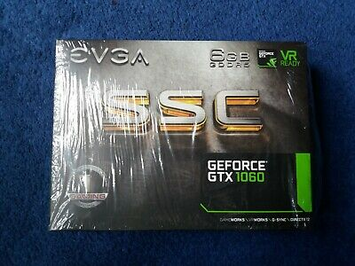 GeForce GTX 1060 - 6GB GDDR5 - EVGA SSC GAMING ACX 3.0 In Orig Box + Accessories