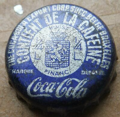 1 Kronkorken  COCA - COLA  CORK BRUXELLES BELGIUM TAX  bottle caps capsule soda