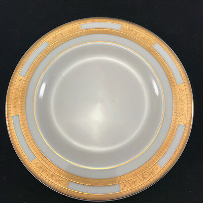 """Vintage Cartier China Helena 6-1/2"""" Bread & Butter Plate- Raised Gold Perimeter"""