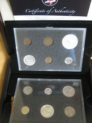 USA Iconic Coins of America Collection Set 12 Coins Cent ~ Morgan Dollar COA Box