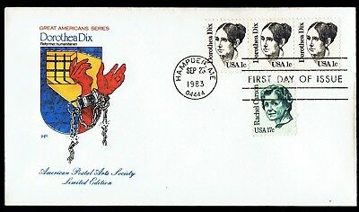 US 1844 Dorthea Dix Great Americans 1983 House of Farnum First Day Cover F1844-1