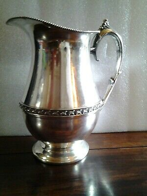 """Vintage Signed """"SHEETS ROCKFORD CO"""" 305 Silver Plate Beverage Water Pitcher"""