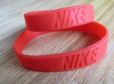 x2 Red Nike Baller Band Silicone Rubber Bracelet