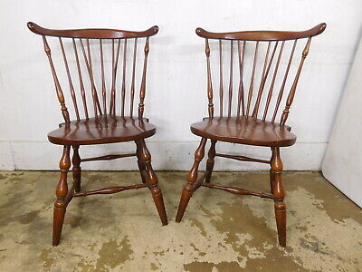 VTG BUY 1 to 4 Pennsylvania House Cherry Brace Back Windsor Side Dining Chairs