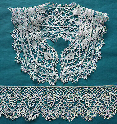 Antique Bedfordshire lace collar and border - projects