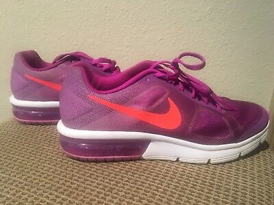 GIRLS' NIKE AIR Max athletic scarpa size 3.5 Y ~ lace up