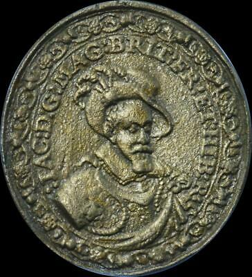 James I - 1604 the attempted Union of England and Scotland Oval medal - V Rare