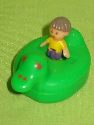 VINTAGE Polly Pocket 1990 Bathtime Soap Dish BOY FIGURE Titch & Green Duck FLOAT