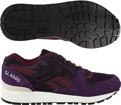 NEW WOMENS REEBOK Purple Classic Leather Quilted Trainers