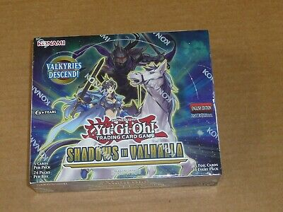 Yu-Gi-Oh Shadows In Valhalla Factory Sealed Booster Box 24 Packs 1St Edition