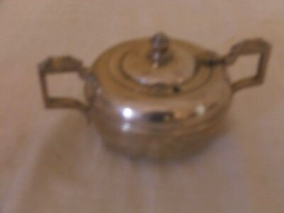 Vintage Art Deco Empire Plate Silver Plated EPNS Sugar Bowl