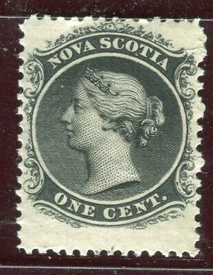 CANADA; NOVA SCOTIA 1860 early classic QV issue fine Mint hinged 1c. value