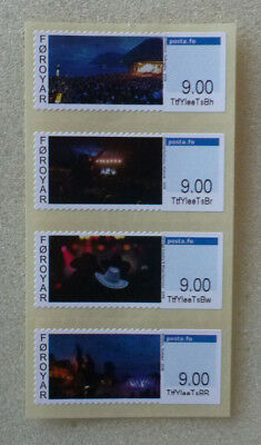 2016 Denmark Faroe Island Franking Labels Issue Mint Stamp Strip Of 4