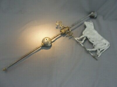 Antique New England Weather Vane Weathervane Cow Bullet Holes Old Gray Paint