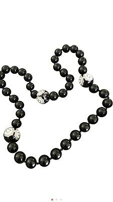 bc95f6db4 Tiffany & Co. Paloma Picasso Zellige Black & White Etched Bead Necklace