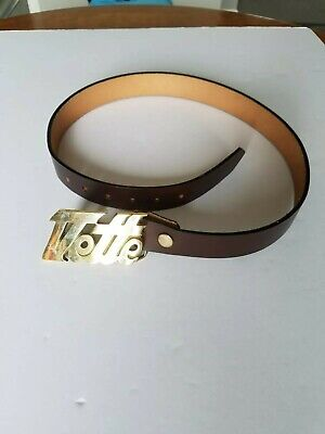 Vintage Vette Leather Belt With Solid Brass Buckle