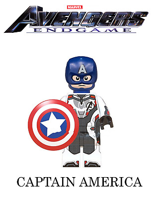 Marvel Avengers Endgame Minifigure Quantum Suit Captain America MOC Toy