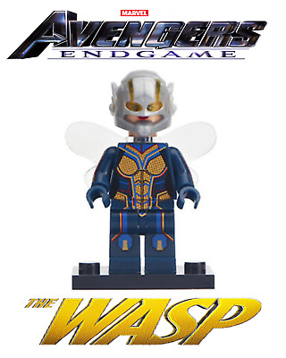 The Wasp Minifigure Super Heroes Avengers Endgame Thanos Ant Man Movie MOC Toy