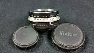 Vivitar Automatic Tele Converter 2X-1 with Lens Caps - Made in Japan