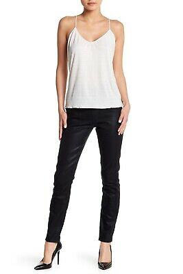 89018828b24340 SPANX $108 Black Wax Denim Shaping Leggings LARGE 2310 Alexia Ready To Wow