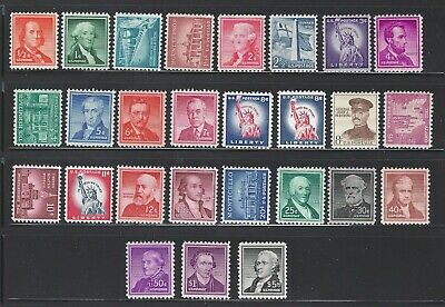 U.S. SC.#1030-1059A-1954 1/2c TO $5.00 LIBERTY SERIES INCLUDING COILS-MINT NH