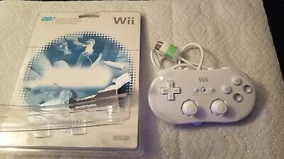 Nintendo Wii Classic Controller White New Opened Package See pics