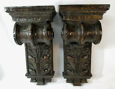 Architectural Antique Wooden Corbel / Bracket / Shelves  Scroll Leaves Flower