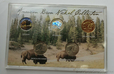 2005 AMERICAN BISON Nickel Collection Colorized,Holographic