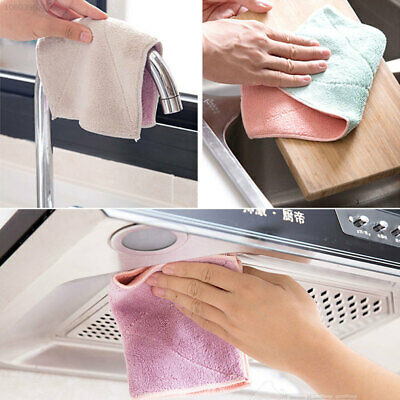 A4E4 5280 EAA7 Soft Dishcloth 27.5*16cm Cleaner Hotel Kitchen Double-Sided Towel