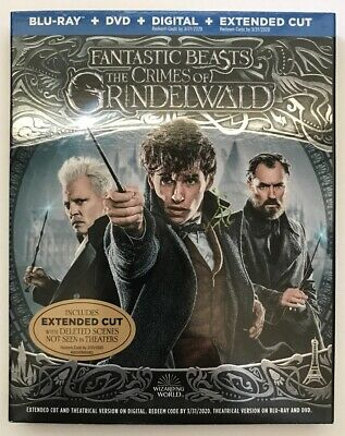 Fantastic Beasts The Crimes of Grindelwald Blu-Ray/DVD; NO Digital Copy Ext. Cut