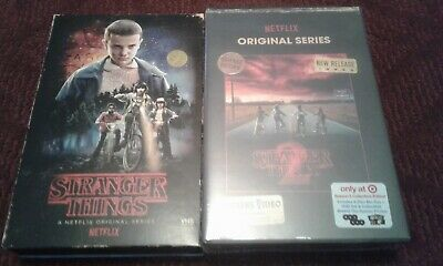 NEW Stranger Things Season 1 & 2 Collector's Edition: (Blu-ray + DVD) VHS Case