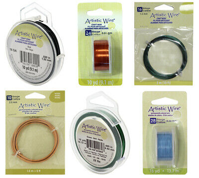 Artistic Wire® Permanently Colored Copper Wire * Many Colors & Diameters