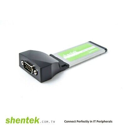 Shentek Serial RS232 1 Port 34mm ExpressCard High Speed 921.6K Oxford chipset