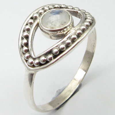 925 Stamped Sterling Silver RAINBOW MOONSTONE Ring Size Y ½ ! Gemstone Jewelry