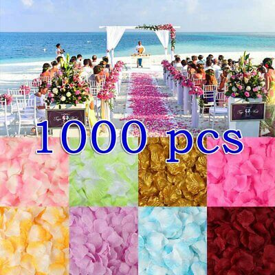 1000x Silk Rose Flower Petals Engagement Wedding Decoration Confetti Table #ZH