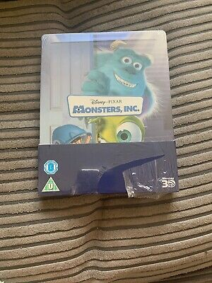 Disney Pixar - Monsters Inc - 3D Blu-Ray Steelbook Brand New And Sealed!