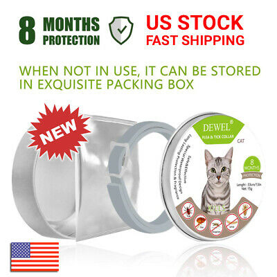 Flea and Tick Collar for Cats 8 Months Protection Approved Treatment DEWEL