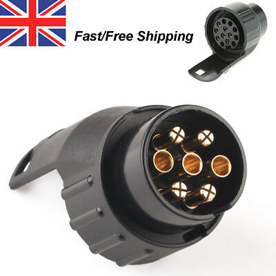 13 - 7Pin Electric Towing Converter Tow Bar Plug Adaptor Socket Trailer Caravan