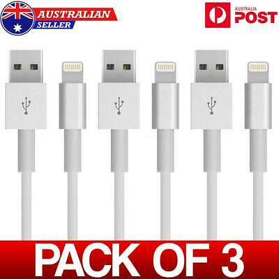 3X Lightning Cable Charger compatible Genuine Apple iPhone 7 Plus 6 5 S 8 X AUS